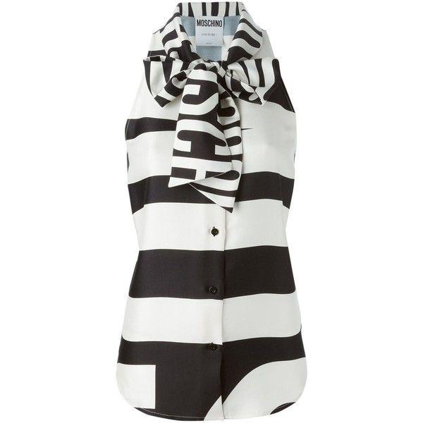 fdabada742e4aa Moschino sleeveless pussybow blouse ( 1