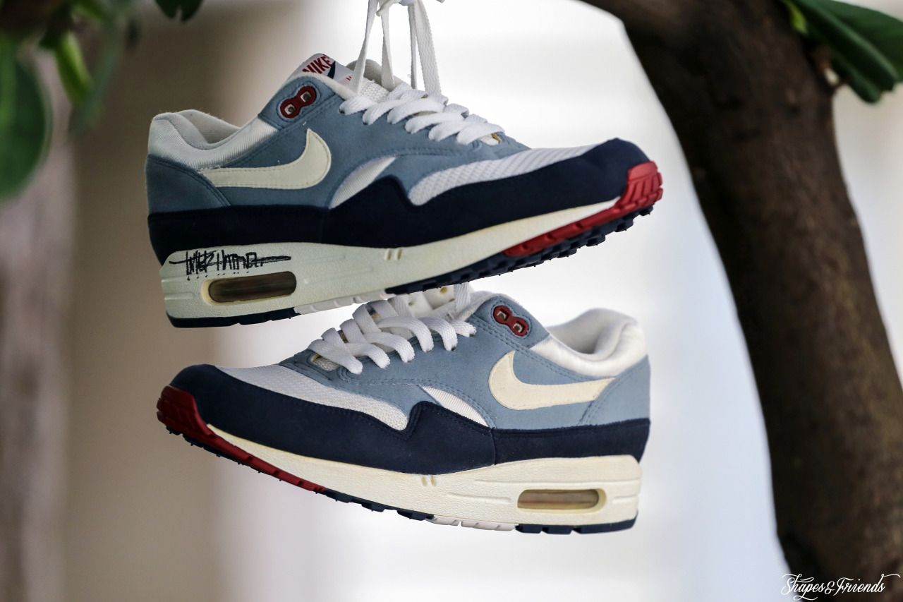 Nike Air Max 1 Greystone Signed By Tinker Hatfield | tinks
