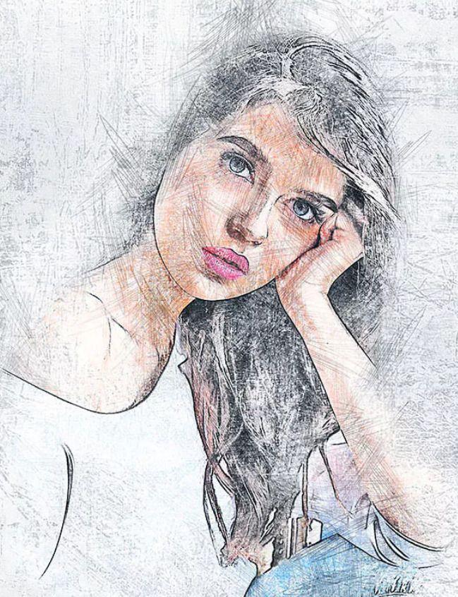 Modern Pencil Sketch Photoshop Action by Mri Khokon on