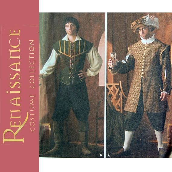 Men\'s Renaissance Costume Squire Guard Doublet Sewing Pattern - Size ...