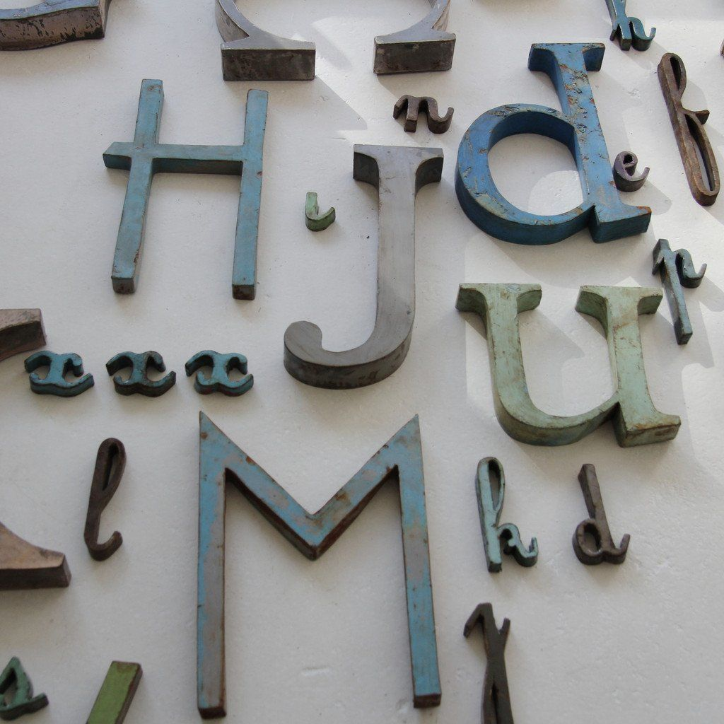 Small Decorative Metal Letters Pinmolly Schleicher On Home Decor  Pinterest  Metals
