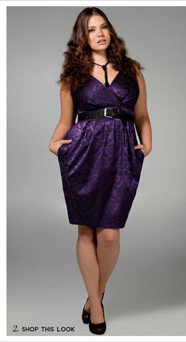 purple jewel tone wrap top dress plus size  #UNIQUE_WOMENS_FASHION