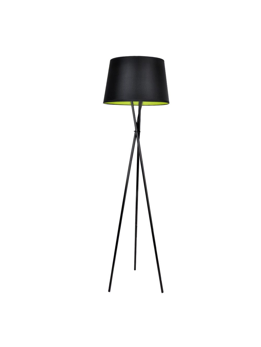 Black Tripod Floor Lamp With Coloured Shades