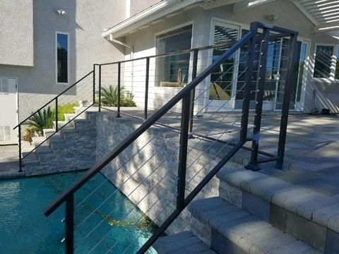 Diy Stainless Steel Cable Deck Porch Cable Railing 10ft Kit Pull Lock Systemeasy Installation With The Pull Lock Syst Building A Deck Cool Deck Patio Railing