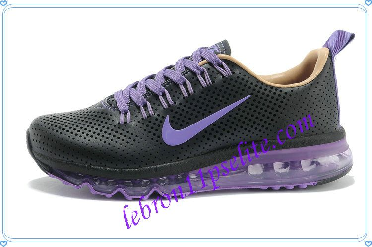 quality design 9331b 06856 Nike Air Max Motion NSW Leather Womens Black Pure Purple 604466 448