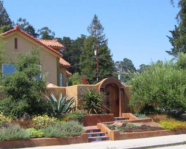 spanish front yard landscaping ideas