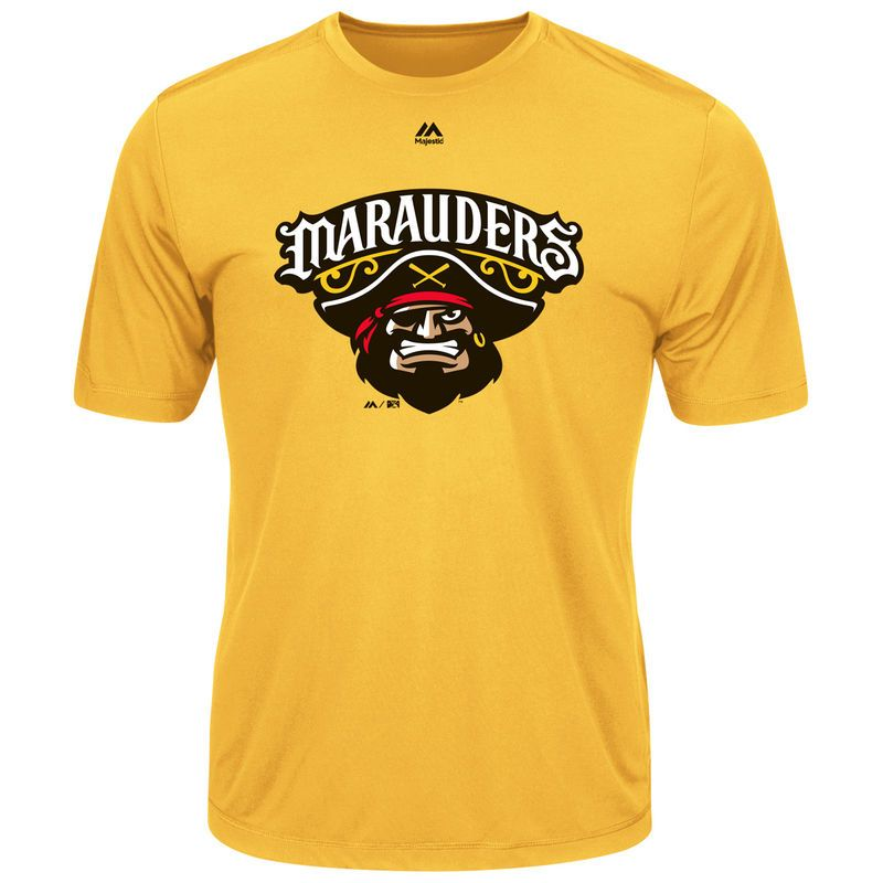 Bradenton Marauders Majestic Youth Cool Base Evolution T-Shirt - Yellow