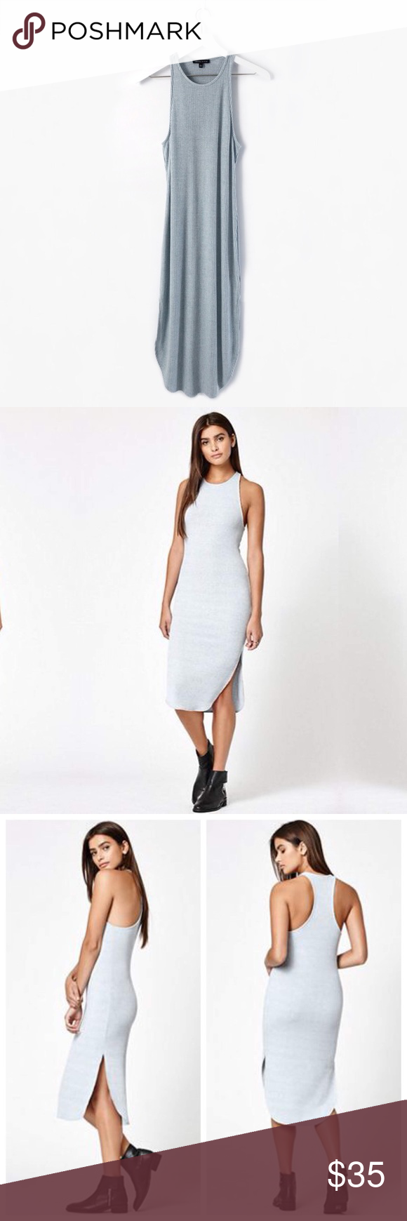 Kendall Kylie Ribbed Racerback Midi Dress Racerback Midi Dress Midi Dress Bodycon Kendall Kylie [ 1740 x 580 Pixel ]