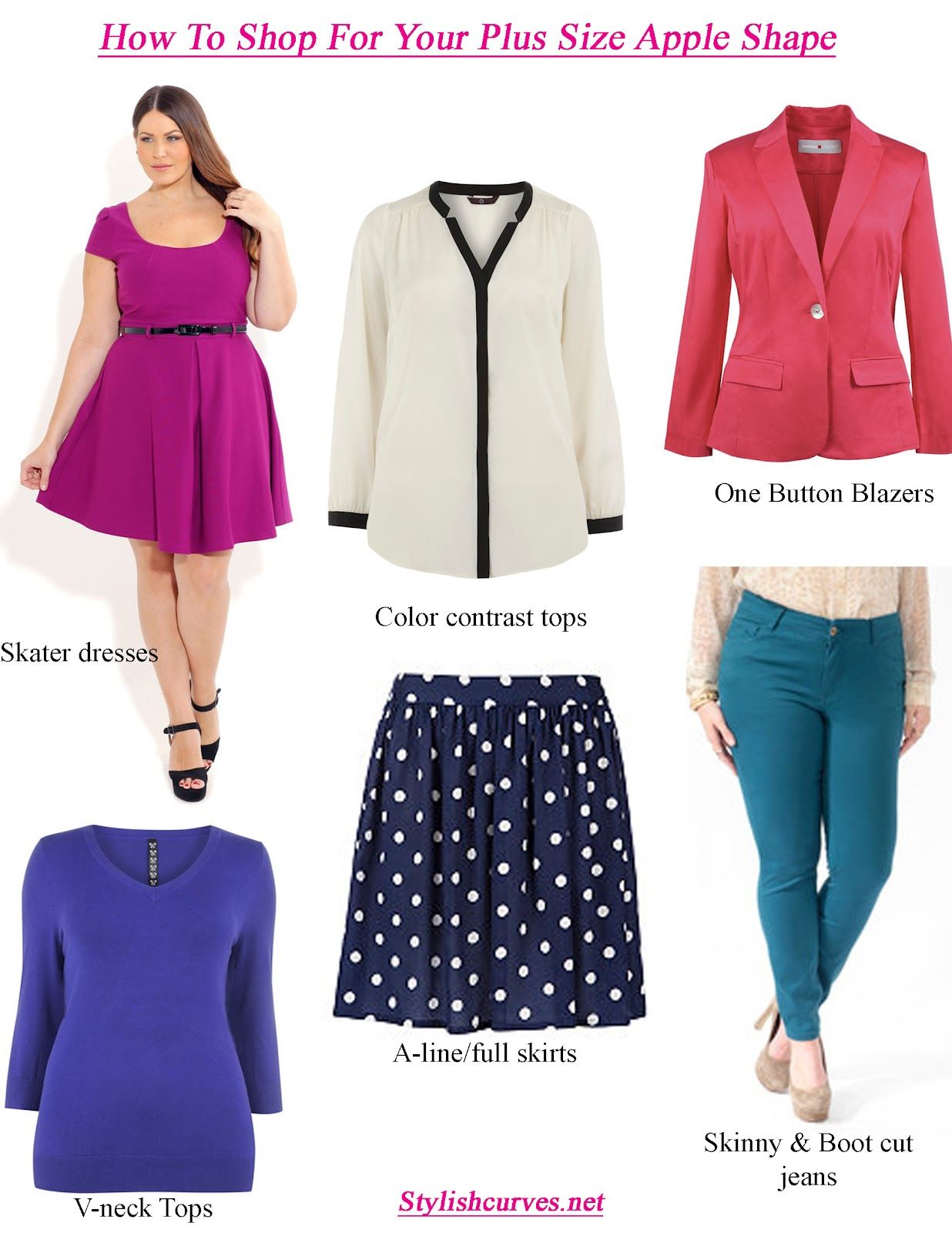 Dresses for apple shaped women - Great Ideas For Apple Shapes