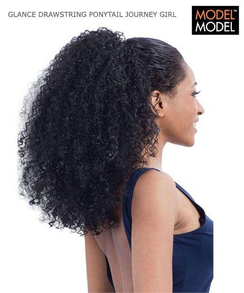 Model Model Journey Girl Ponytail Long Hair Ponytail Drawstring Ponytail Natural Curls Hairstyles