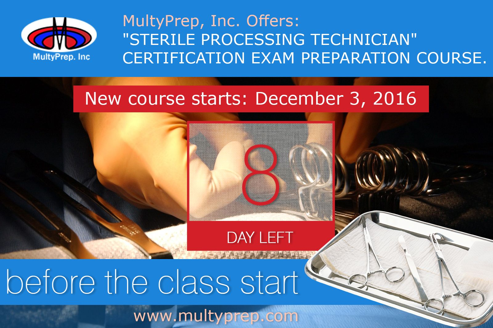 8 Days Left Before The Class Start Details At Httpmultyprep