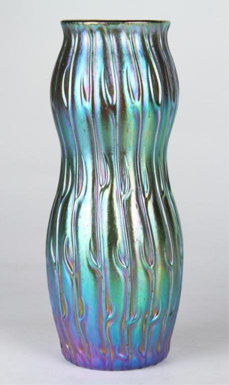 Loetz Crete Silberiris Neptun Vase : Lot 31