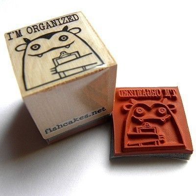 Items Similar To Im Organized Rubber Stamp On Etsy
