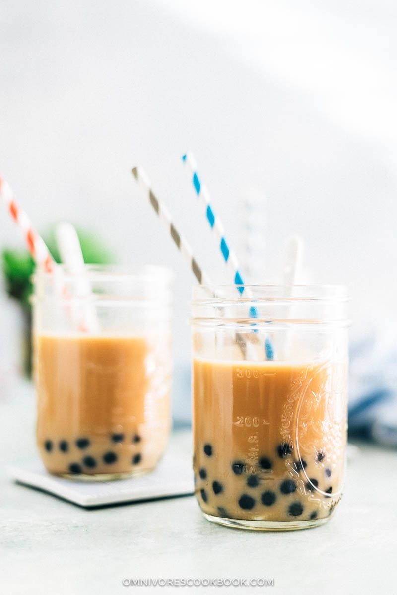 Bubble Tea Boba Tea Recipe How To Make Diy Drink Tea Summer Asian Chinese Milk Vegan Vegetar Boba Tea Recipe Bubble Tea Boba Bubble Tea
