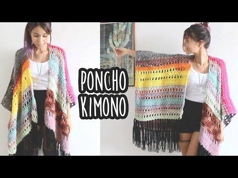kimono colorido em croche!!!