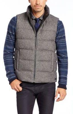 313ace49ad0 HUGO BOSS 'Darnom' - Virgin Wool Blend Reversible Vest with Down Blend  Filling on shopstyle.com