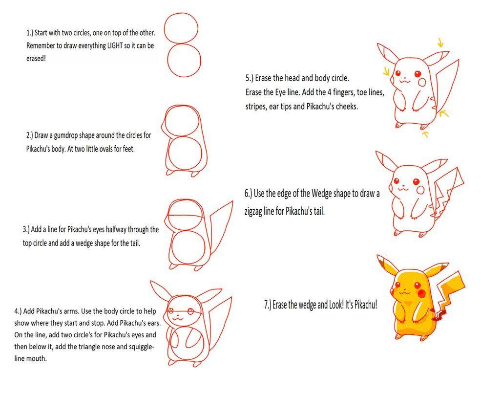 Bildresultat F  R How To Draw Pikachu
