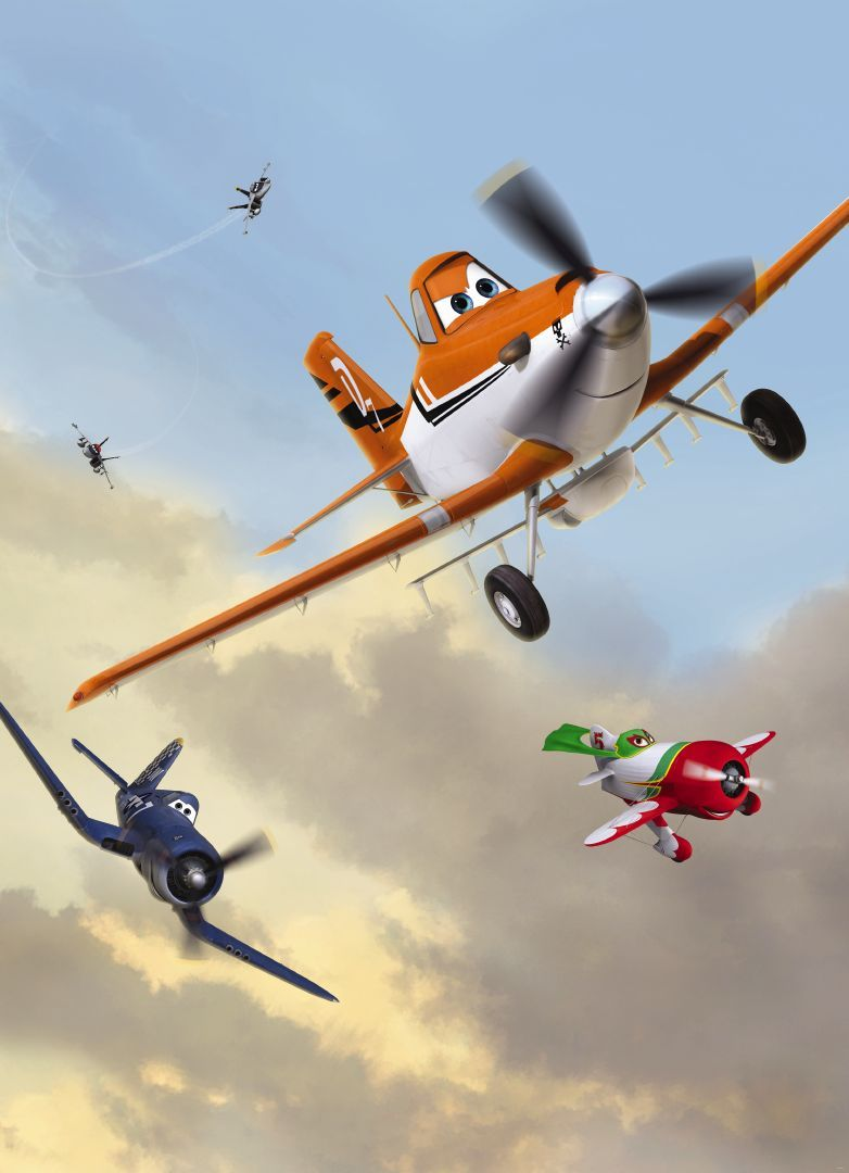 They 39 ve got altitude komar disney pixar planes dusty for Disney planes wall mural