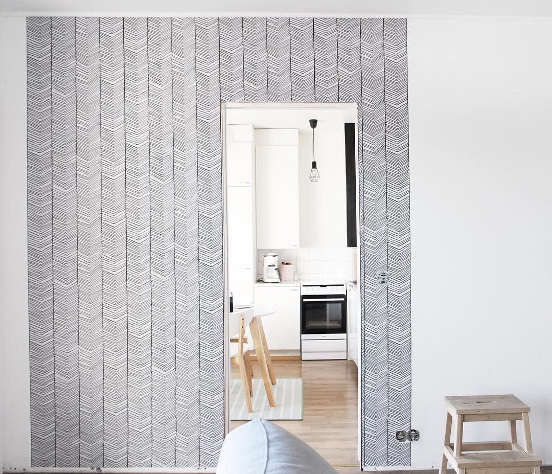 Ferm LIVING Herringbone Wallpaper: Looking Super Coll And Contemporary In  This Home