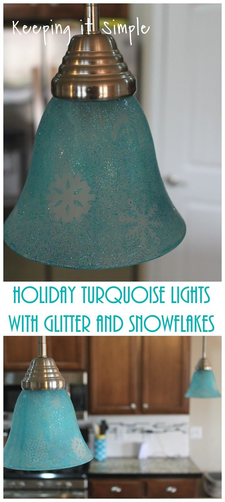 turquoise pendant lighting. How To Dye Light Shades- Holiday Turquoise Pendants Lights With Glitter And Snowflakes Pendant Lighting T