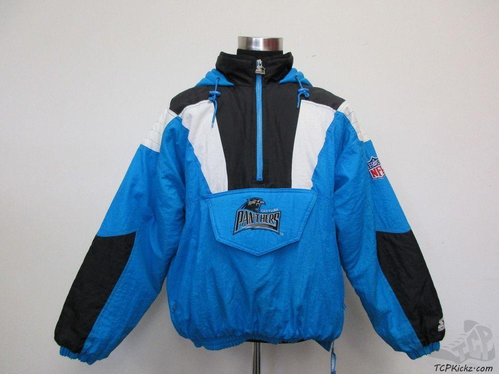 competitive price e0dc4 89cf2 Vtg 90s Starter Proline Carolina Panthers Half Zip Pullover ...