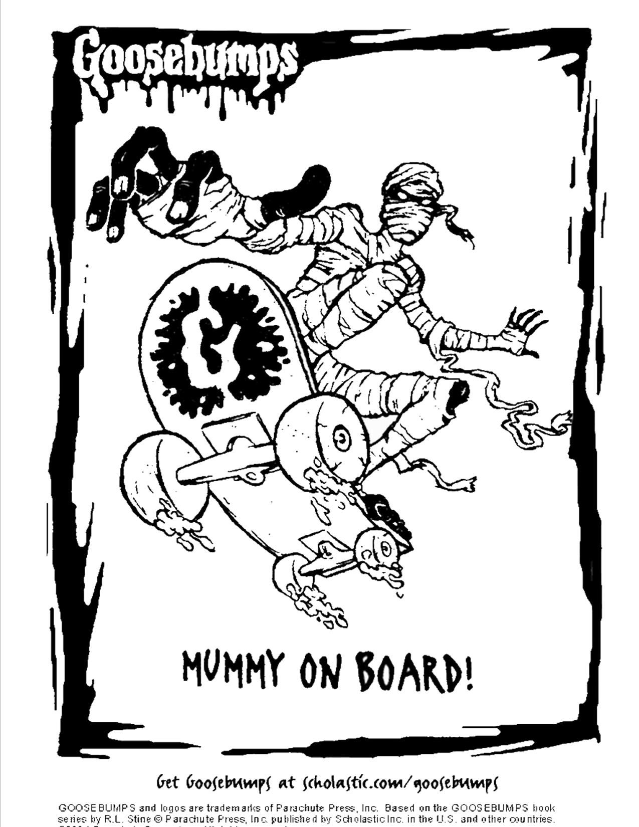 Scholastic Goosebumps mummy coloring page | Movie Theater / Library ...