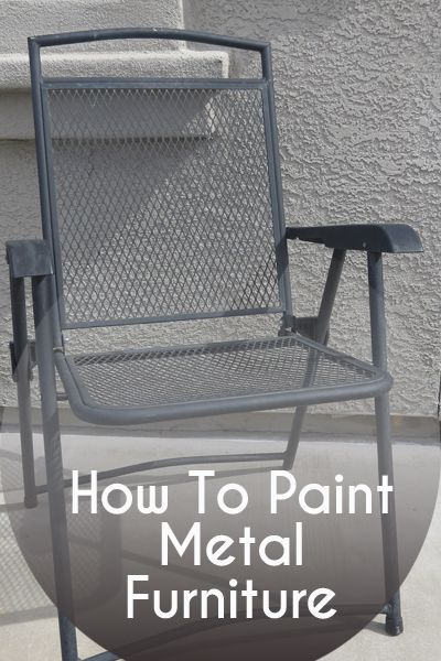 The Best Way To Paint Metal Furniture, Best Paint For Outdoor Metal Furniture