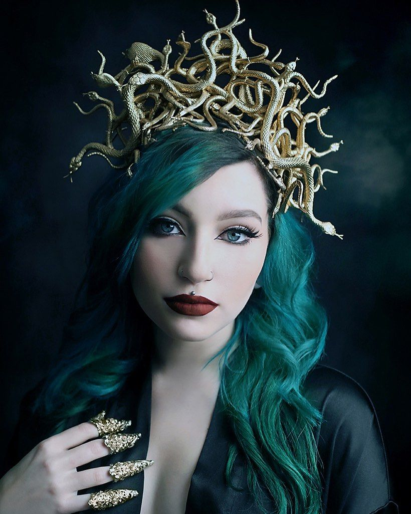 """Winterwolf Studios on Instagram: """"I'm happy you guys liked these! They turned out how I envisioned. ? Model @capricornholio_  Photography WinterWolf Studios  #snakes #medusa…"""""""