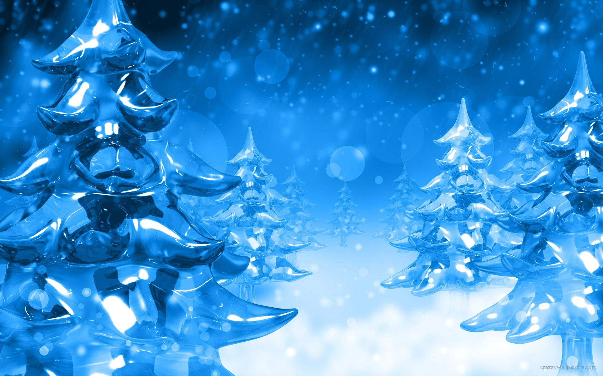 Christmas Tree Blue Snow Cold Digital Art Winter Christmas Wallpaper Free Christmas Wallpaper Hd Christmas Tree Wallpaper