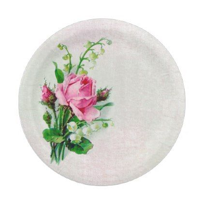 sc 1 st  Pinterest & Vintage Rose Lily of the Valley Paper Plates 7