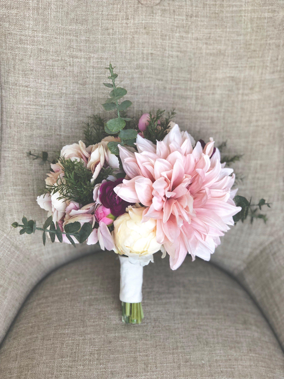 Vintage mauve-toned faux bridal bouquet #etsy #weddings #bouquet ...