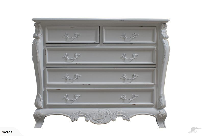 French Bombay Chest in Vintage White | Trade Me