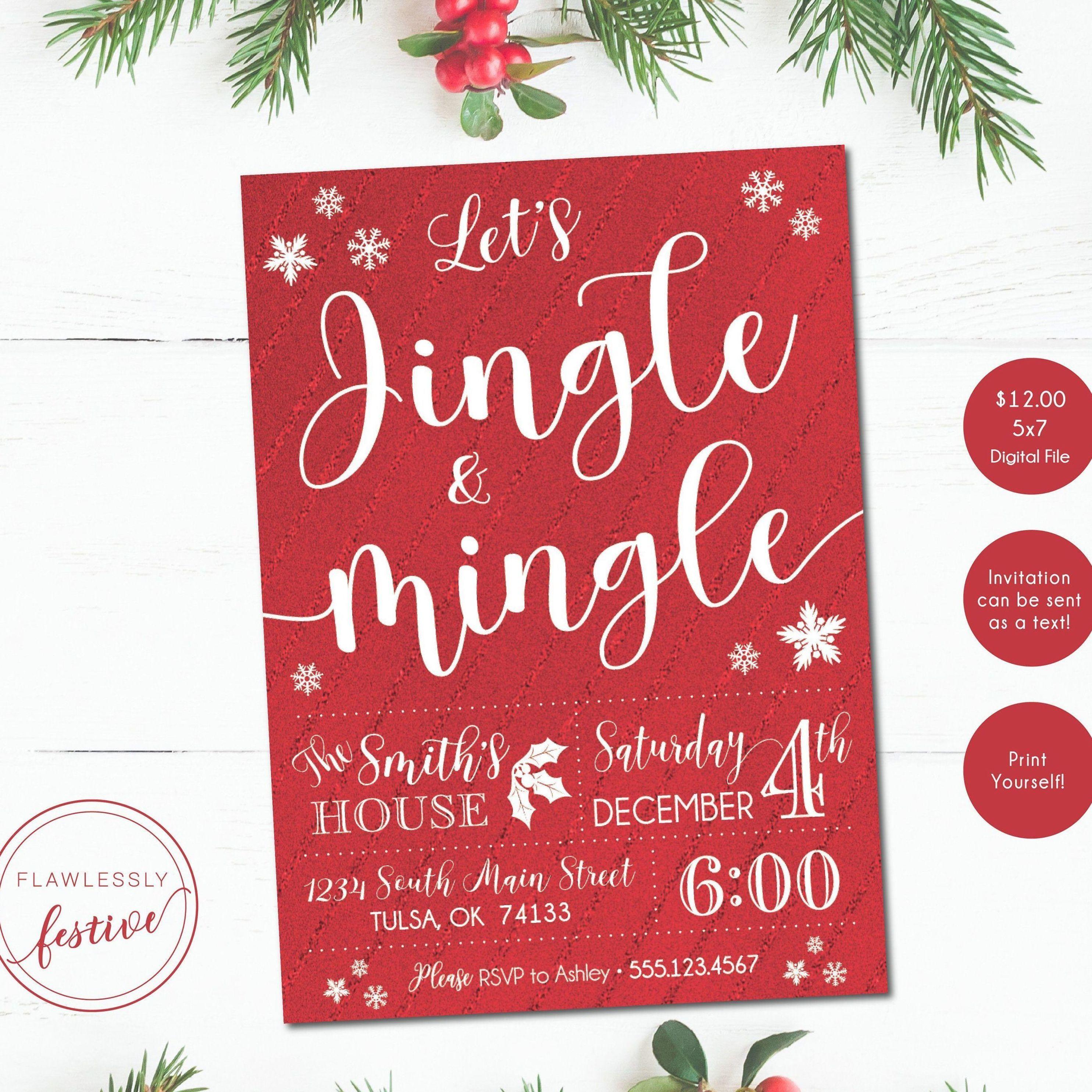 Jingle and Mingle Invitation • Christmas Party Invitation #christmasparty #invitation #christmasinvitation #mingleandjingle #jingleandmingle #christmaspartyideas #christmaspartyinvitation