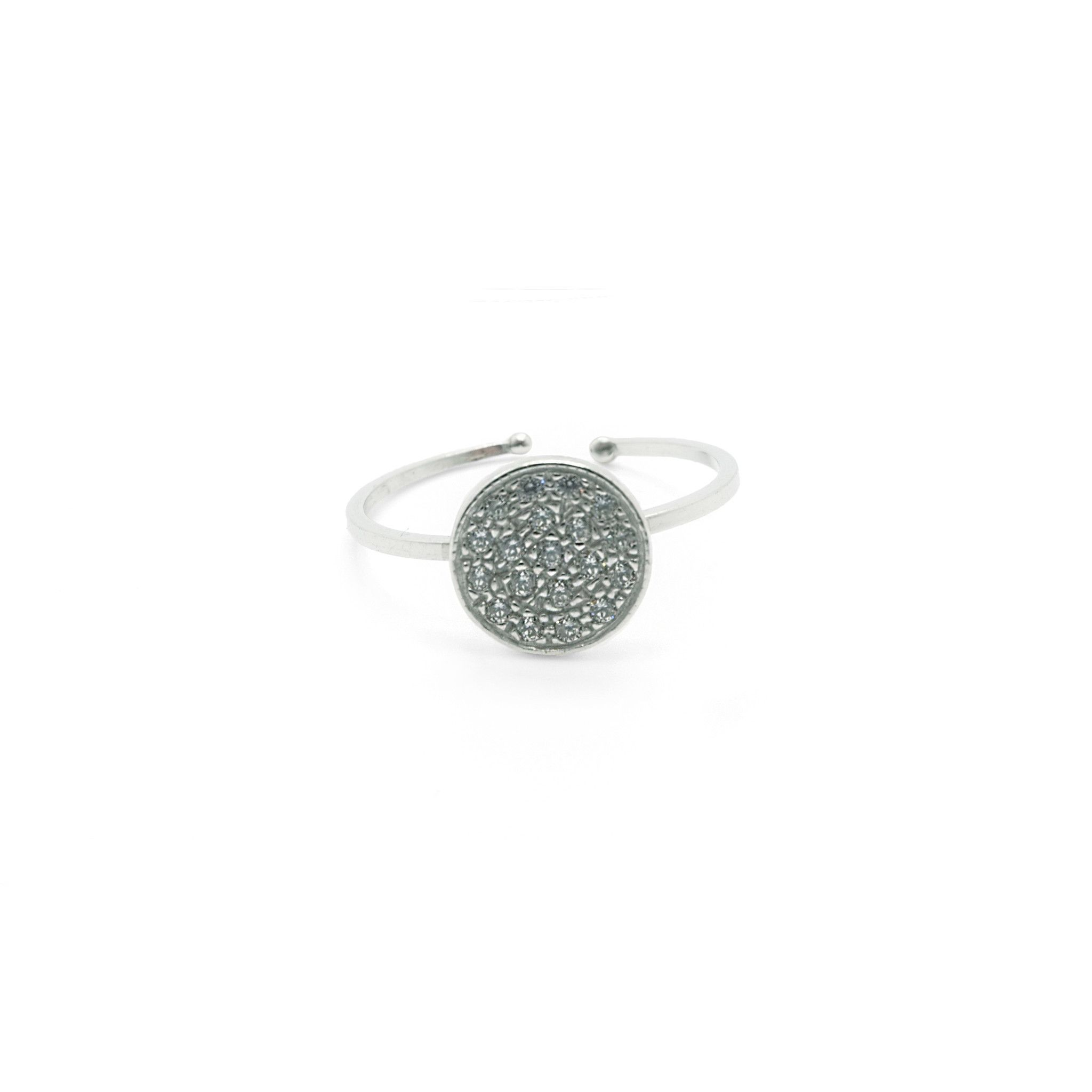 Arabesque Silver with Zircons, Ring