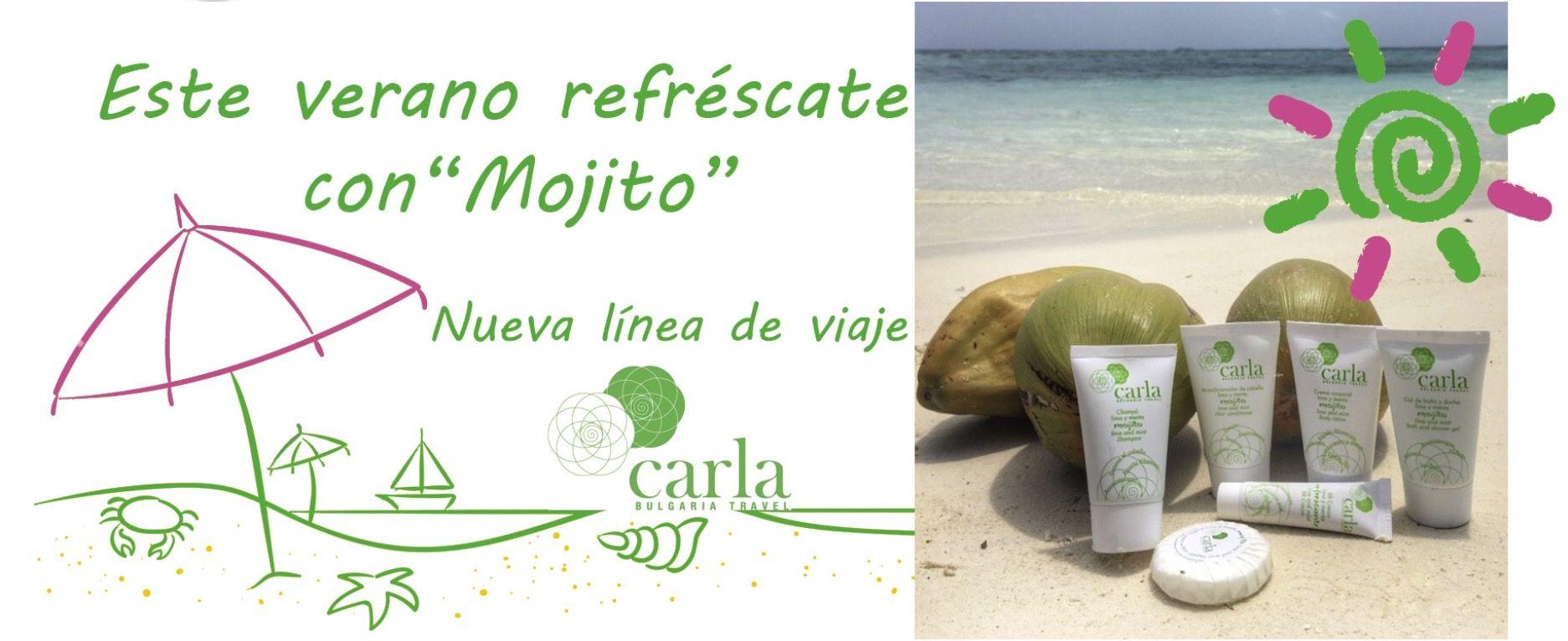 Muchos estábais esperando este momento y poder conseguir el Pack de Viaje Mojito de la nueva línea Carla Bulgaria Travel con aroma a lima y menta. Ya se puede adquirir en nuestra tienda on line...