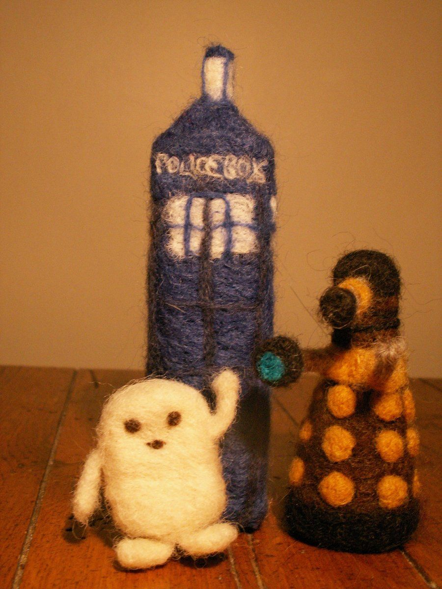 Doctor Who Needle Felting by ~willowispy on deviantART