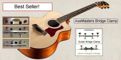 Axemasters Guitar Bridge Clamp 2 Nonparallel Bridge Pin Holes Luthier Tool Luthier Tools Guitar Luthier