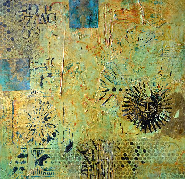 Aztec Sun II by Filomena Booth: Mixed-Media Wall Art available at ...