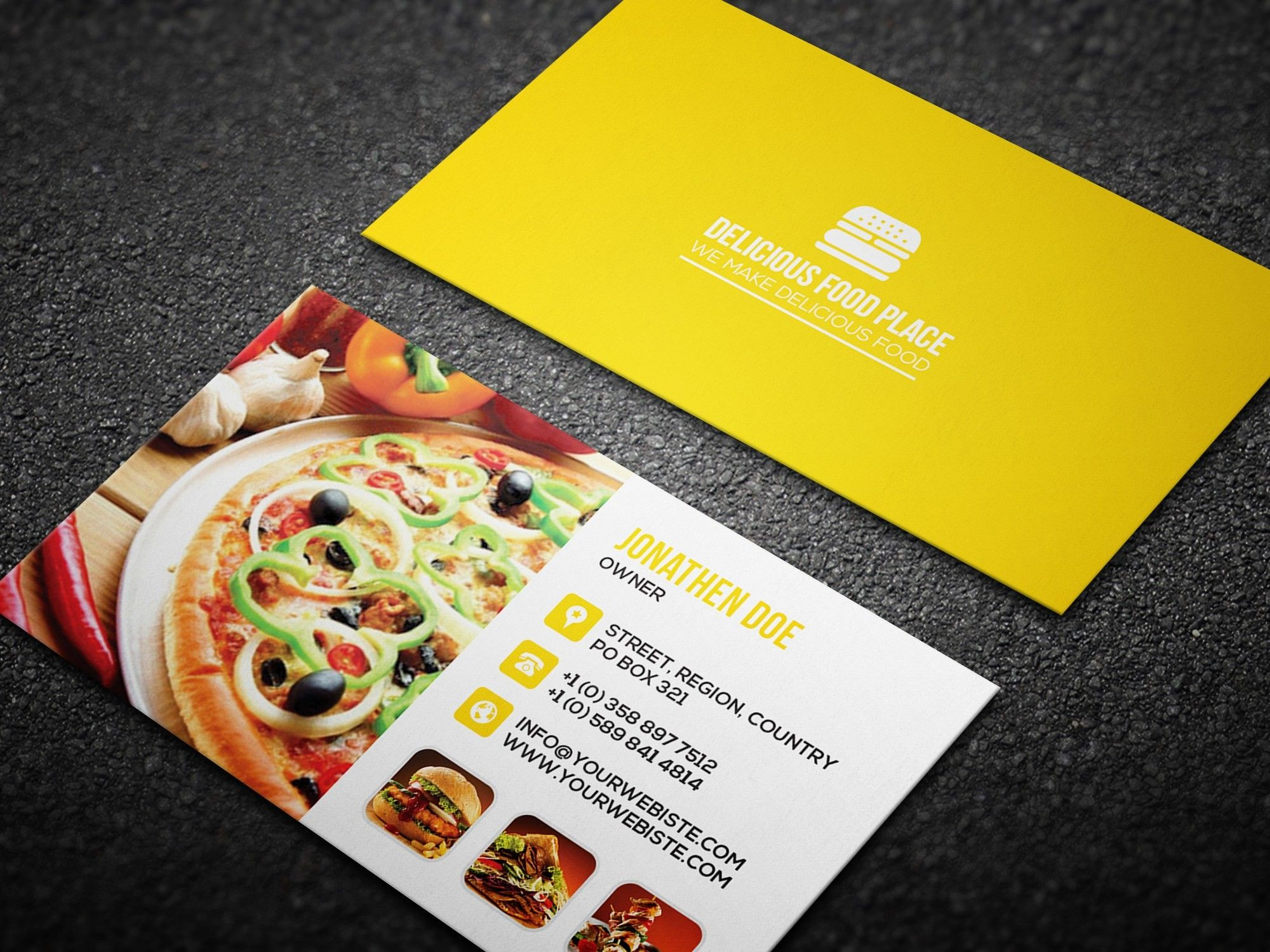 Fantastic Business Cards Psd Templates For Free Delicious Food