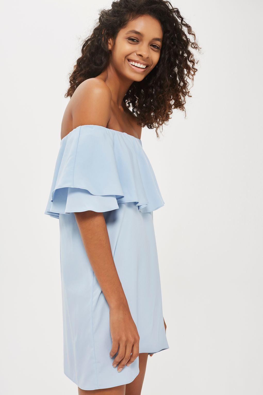 2850f35e9377 Dip Hem Bardot Dress