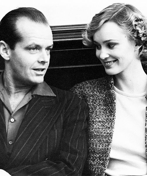 Jack Nicholson and Jessica Lange on the set of The Postman Always Rings Twice, 1981.