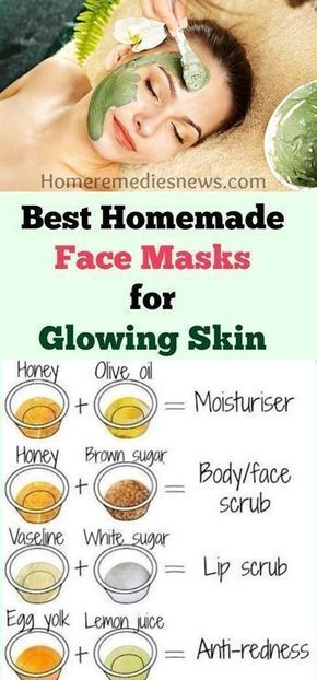 6 Super-Easy Homemade Face Masks for Glowing Skin #diybeauty