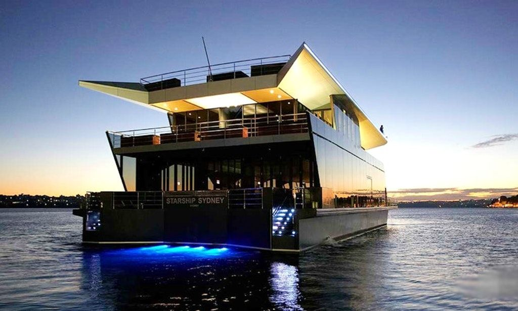 Experience sydney harbour on starship sydney glass party