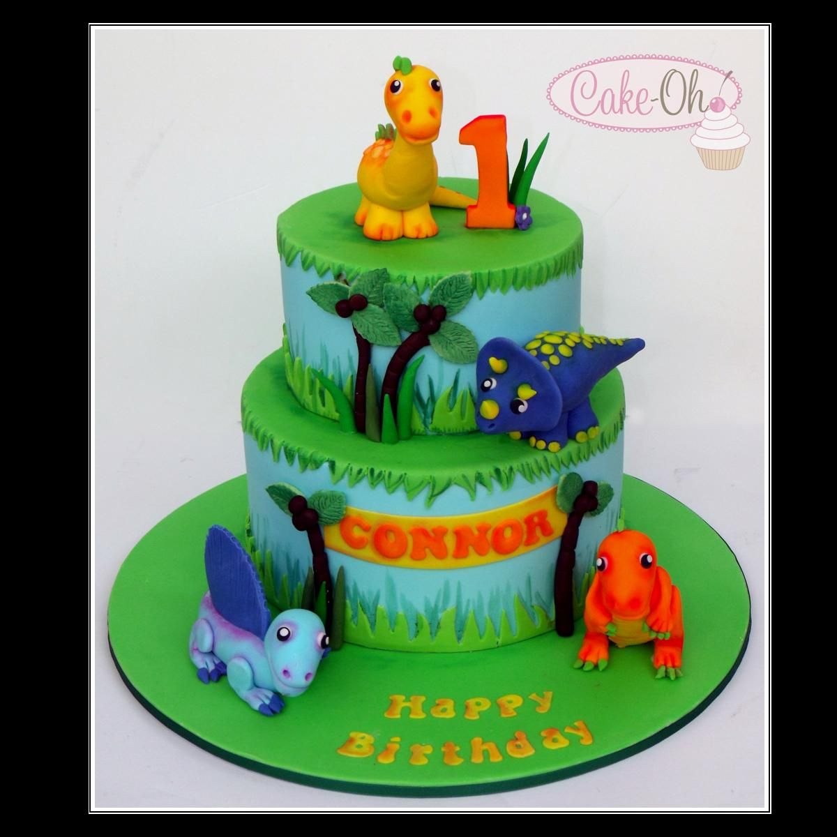 Dinosaur First Birthday Cake With Images First Birthday Cakes