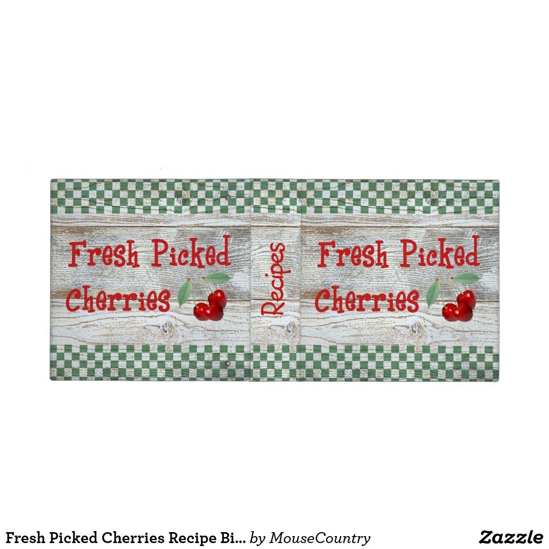 Fresh Picked Cherries Recipe Binder