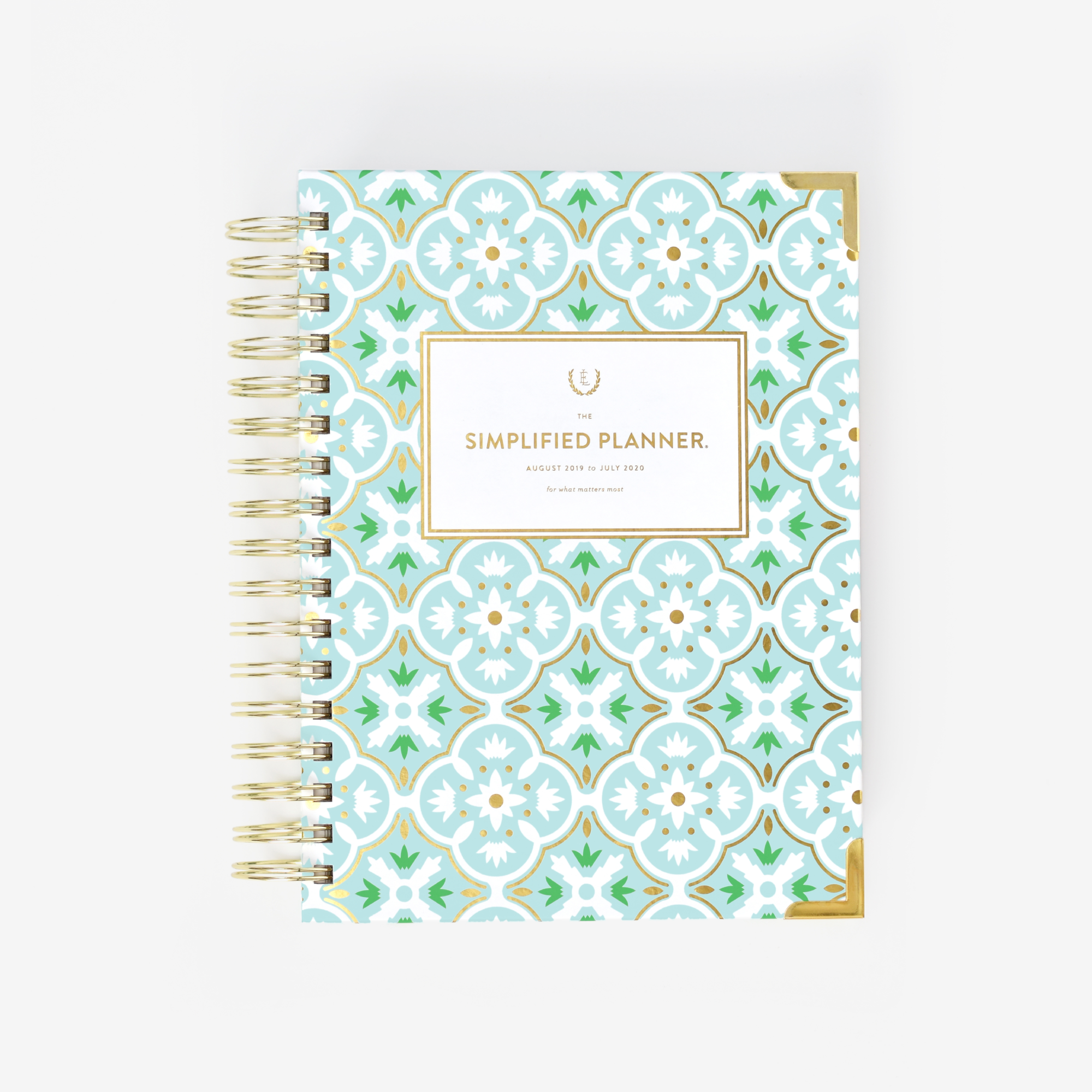 photo regarding Simplified Planner Emily Ley titled 2019-2020 Everyday, Simplified Planner, Mint Tile Goods I