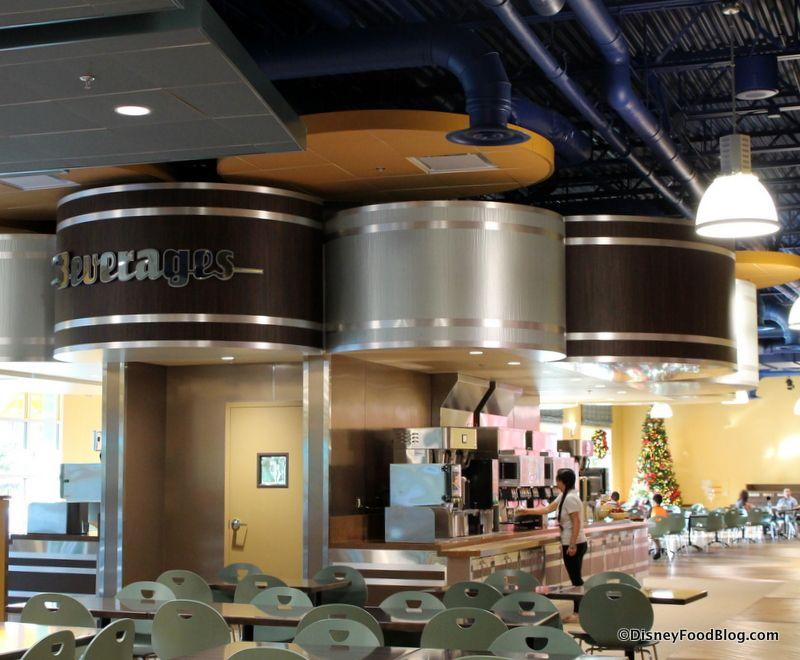 Newly refurbished intermission food court at Disney World