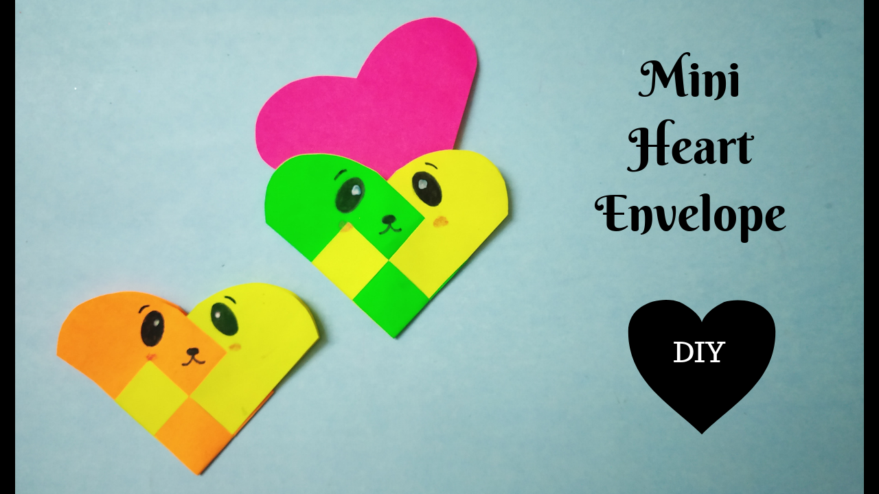 How To Make A Heart Envelope Mini Envelope Diy Diy Do It