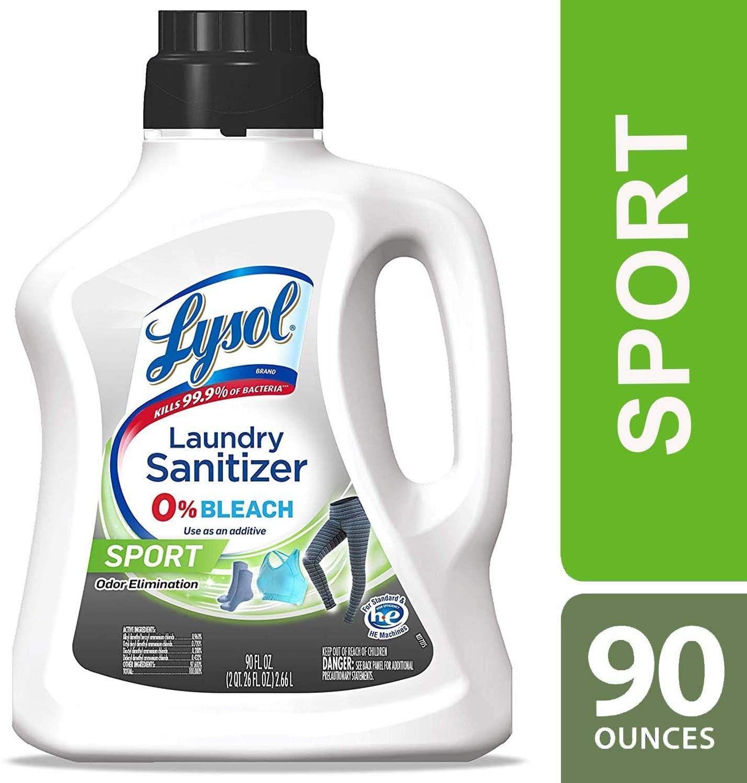 Lysol Laundry Sanitizer Additive Sport 90 Oz Malodor Control Technology Bacteria Causing Odor Lysol Sanitizing Dishwasher Sanitizer