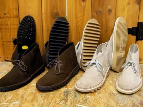 8b6271b6 Clark's Originals Desert Boots resoled with Vibram soles.   Men's ...